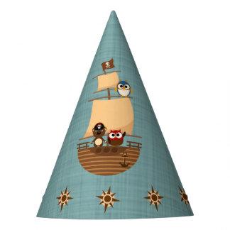Niedlicher Piraten-Schiffs-blauer Partyhütchen