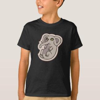 Niedlicher Playful grauer Baby-Elefant, der Hemden