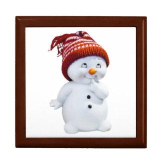 NIEDLICHER PLAYFUL SNOWMAN ERINNERUNGSKISTE