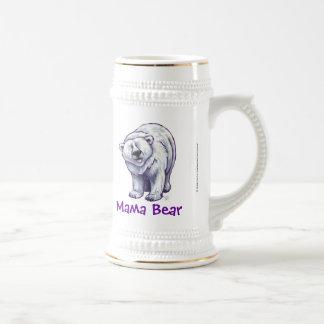 Niedlicher polarer Bär für Mamma Bierglas