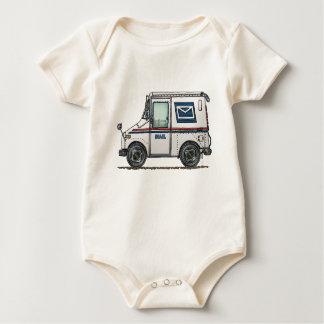 Niedlicher Post-LKW Baby Strampler