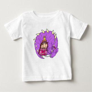 Niedlicher Prinzessin-u. Haustier-Drache Baby T-shirt