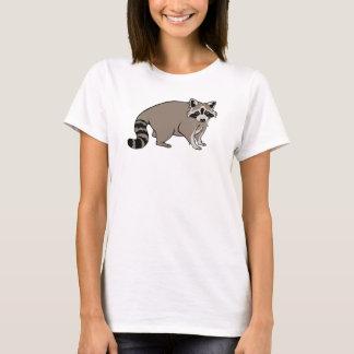Niedlicher realistischer CartoonRaccoon T-Shirt