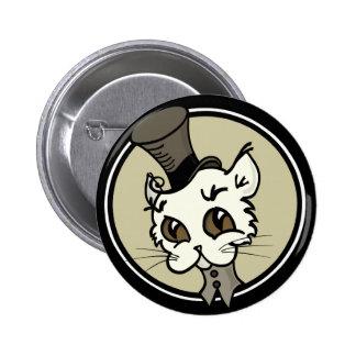 NIEDLICHER RETRO ART-CARTOONKITTYcat-KNOPF Runder Button 5,7 Cm