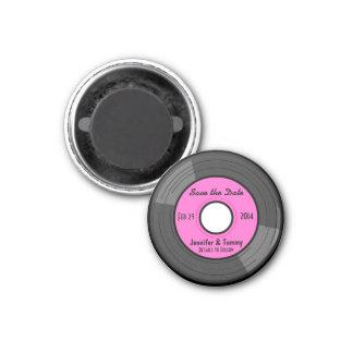 Niedlicher Retro Aufzeichnungs-Save the Date Magne Runder Magnet 3,2 Cm