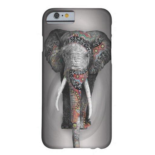 Niedlicher Retro Blumen-Elefant Barely There iPhone 6 Hülle