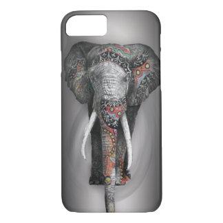 Niedlicher Retro Blumen-Elefant iPhone 8/7 Hülle