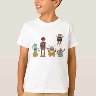 Niedlicher Retro Roboter-KinderT - Shirt