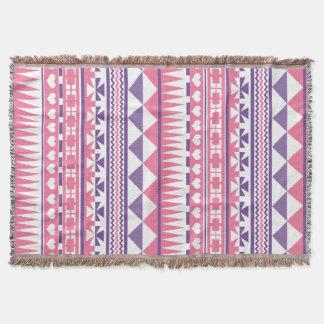 Niedlicher Retro rosa lila aztekischer Decke