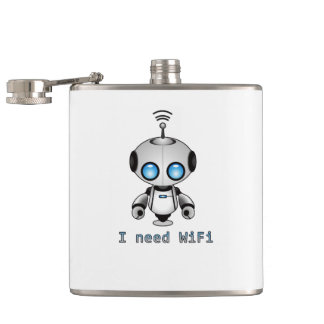 Niedlicher Roboter Flachmann