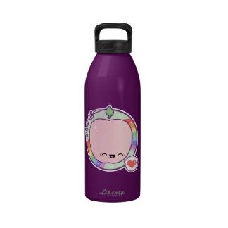 Niedlicher rosa Apple Wasserflaschen