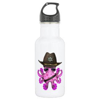 Niedlicher rosa Baby-Kraken-Sheriff Trinkflasche