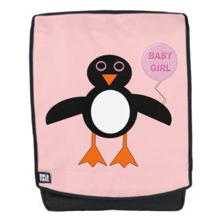 Niedlicher rosa Baby-Mädchenpenguin-Rucksack Rucksack