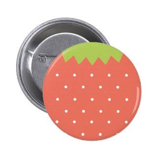 Niedlicher rosa Erdbeerknopf Runder Button 5,7 Cm