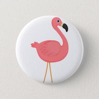 Niedlicher rosa Flamingo Runder Button 5,7 Cm