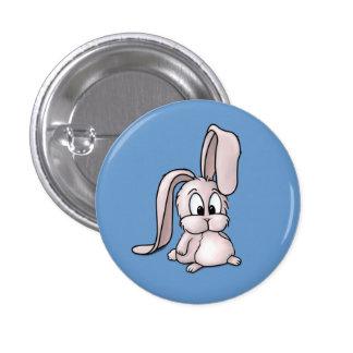 Niedlicher rosa Kaninchen-Cartoon Runder Button 3,2 Cm