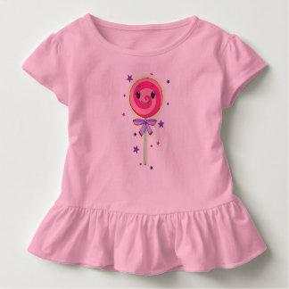 Niedlicher rosa Lolli Kleinkind T-shirt