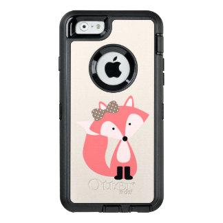 Niedlicher rosa MädchenFox OtterBox iPhone 6/6s Hülle