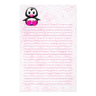 Niedlicher rosa Penguin Briefpapier