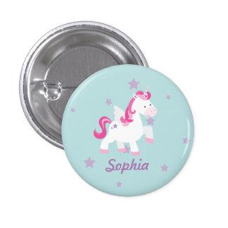 Niedlicher rosa personalisierter magischer runder button 2,5 cm
