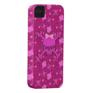 Niedlicher rosa Schädel-u. iPhone 4 Hülle
