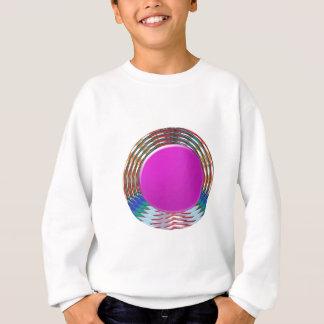 NIEDLICHER rosa Schein des PUNKT-Kreises BINDI: Sweatshirt