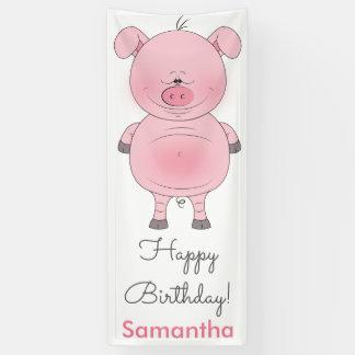 Niedlicher rosa Schwein-Cartoon Banner