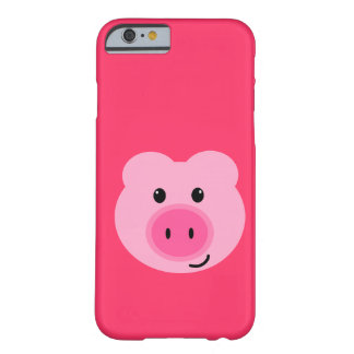 Niedlicher rosa Schwein iPhone 6 Fall Barely There iPhone 6 Hülle