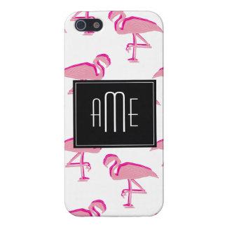 Niedlicher rosa tropischer Flamingo iPhone 5 Schutzhüllen