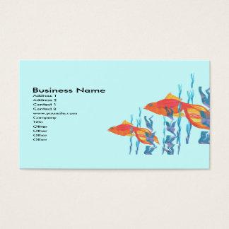 Niedlicher roter FischeWatercolor redigieren Visitenkarte