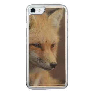 Niedlicher roter Fox Carved iPhone 8/7 Hülle