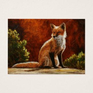 Niedlicher roter Fox, der im Sun sitzt Visitenkarte