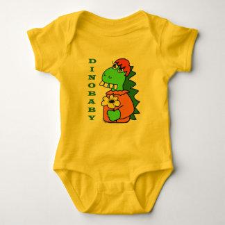 Niedlicher roter Haar-Baby-Dinosaurier-Bodysuit Baby Strampler