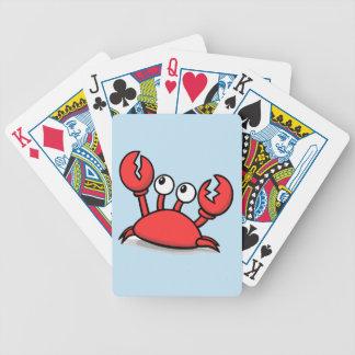 Niedlicher roter Krabben-Cartoon Bicycle Spielkarten