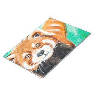Niedlicher roter Panda Notizblock