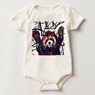 Niedlicher roter Panda-Schnee-Tag Baby Strampler