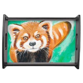Niedlicher roter Panda Serviertablett