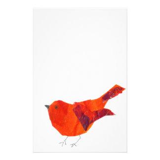 Niedlicher roter Vogel Briefpapier