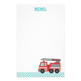 Niedlicher rotes Feuer-LKW für wenige Feuerkämpfer Briefpapier
