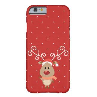 Niedlicher Rudolph der rote gerochene Ren-Cartoon Barely There iPhone 6 Hülle