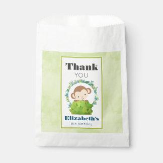 Niedlicher Safari-Affe-Geburtstag danken Ihnen Geschenktütchen