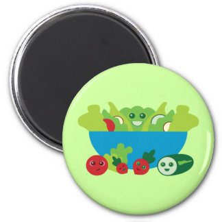 Niedlicher Salat Runder Magnet 5,1 Cm