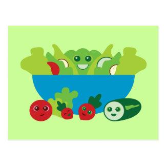 Niedlicher Salat Postkarte