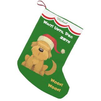 Niedlicher Sankt-Welpe personalisiert Kleiner Weihnachtsstrumpf