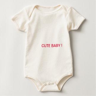 Niedlicher Säuglings-Bio Strampler, natürlich Baby Strampler