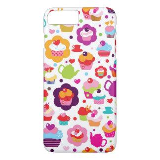 Niedlicher Schalenkuchen und Teetopf iPhone 8 Plus/7 Plus Hülle