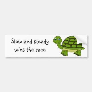Niedlicher Schildkröte-Cartoon Auto Sticker