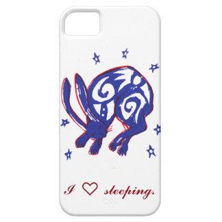 Niedlicher Schlafenhäschen-Telefon-Kasten Barely There iPhone 5 Hülle