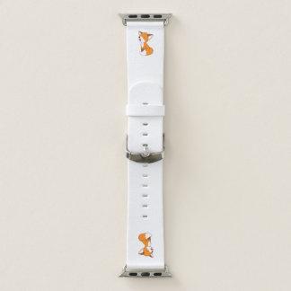 Niedlicher schläfriger kleiner Fox Apple Watch Armband
