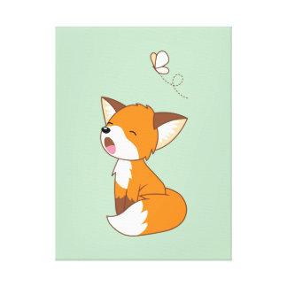 Niedlicher schläfriger kleiner Fox Leinwanddruck
